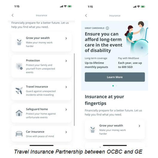Travel Insurance Partnership between OCBC and GE