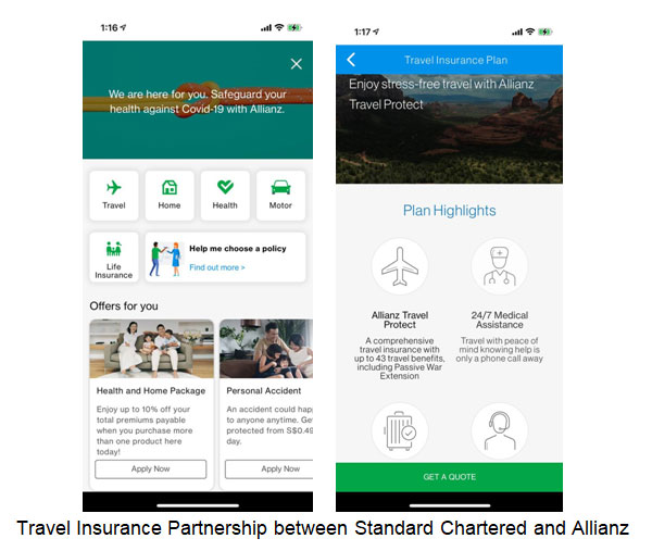 Travel Insurance Partnership between Standard Chartered and Allianz